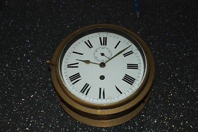 Old Marine Clock. Brass. With key.