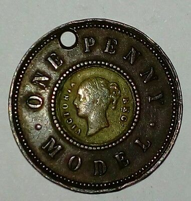 English Victoria Model One Penny
