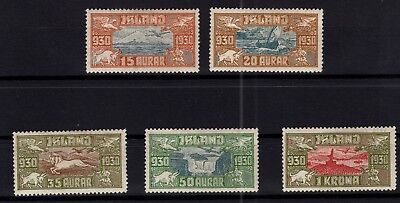 P67423 / Islande / Iceland / Air Mail Stamps / Y & T # 4 / 8 Neufs * / Mh 235 €