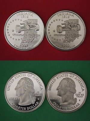 Silver & Clad 2002 S Indiana Proof Deep Cameo State Quarters Buy 4 Get 1 FREE
