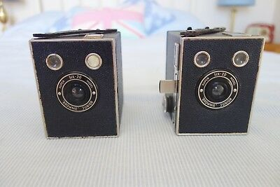 Kodak Brownie's  Two -Junior Super Six-20's one with a pullout 3-4 feet