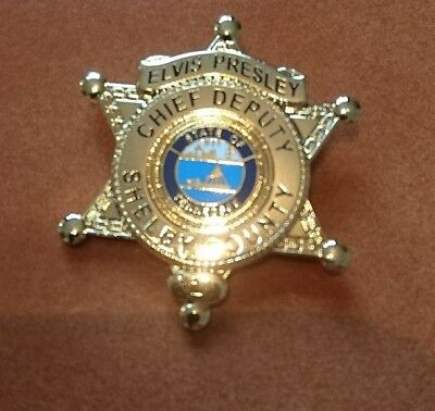 Elvis Presley Chief Deputy Shelby Country Broach Back Pin Badge