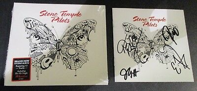 STONE TEMPLE PILOTS hand signed cd booklet SELF-TITLED autographed