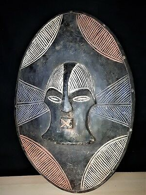 Beautiful Songye Shield Tribal Teke Shield Mask Congo OLA010