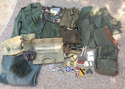Large Lot WWII-Modern US Military Field Gear, Uniforms, Small Items