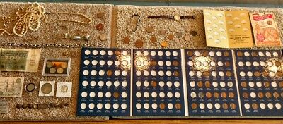 Junk Drawer Lot: OLD US COINS scrap silver CURRENCY Morgan Dollar Lot #65