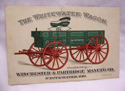 1890's Winchester & Partridge Mfg. Wagons & Windmills Trade Card