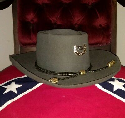 Vintage Stetson XXX Robert E Lee Style Civil War Confederate Slouch Hat USA Made