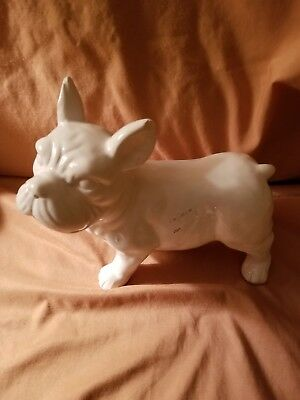 NWT white ceramic French Bulldog Standing Statue