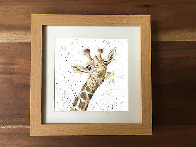 Giraffe Elephant Flamingo Zoo Photo Frame Picture Animal Print New Baby Gift Art