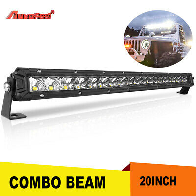 "Ultra-thin Dual Row 12inch 816W LED Work Light Bar Spot Flood Combo Truck 10"" US"