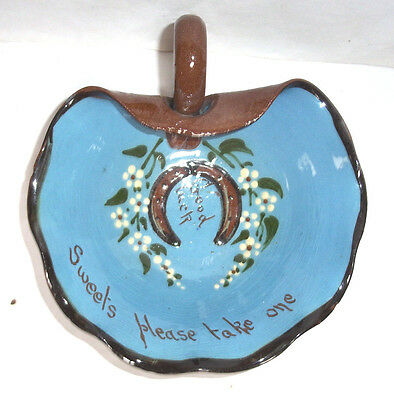 Charming vintage AllerVale Motto Ware Lucky Horse Shoe Dish-sweets please take 1
