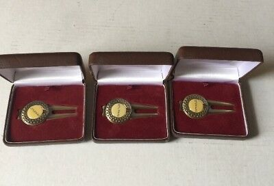 Dewars 12 Year Scotch Divot Tool Golf Ball Marker Lot Of 3 In Original Boxes