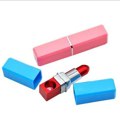 Metal Lipstick Shaped Smoking Pipe Tobacco Filter Cigarette Pipe Random Color US