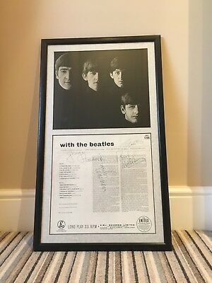 with the beatles framed photo