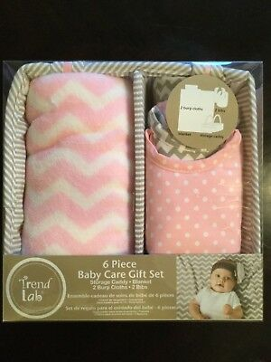 Trend Lab 6-piece Baby Care Gift Set Pink Sky FREE SHIPPING
