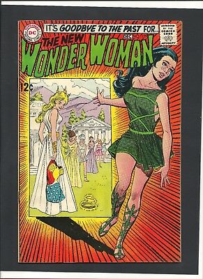 Wonder Woman #179 Dec 1968 First I-Ching And Dr Cyber Key Issue! Leaves Home Dc