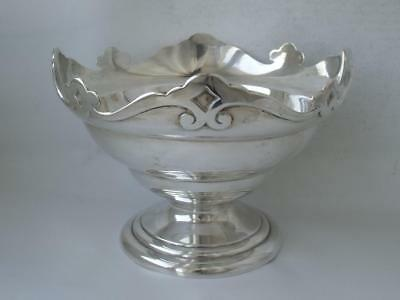 Antique Solid Sterling Silver Bowl 1908/ Dia 17.8 cm/ 362 g