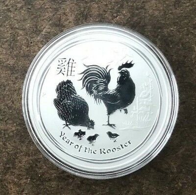 2017 Australia Year of the Rooster Silver $1 Dollar 1 oz .9999 Silver  - No Res