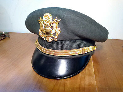 Original Military WW2 Korea Army Air Corp USAAF Officers US  visor cap hat