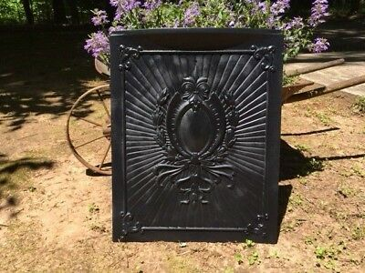 Antique Cast Iron Victorian Fireplace Cover