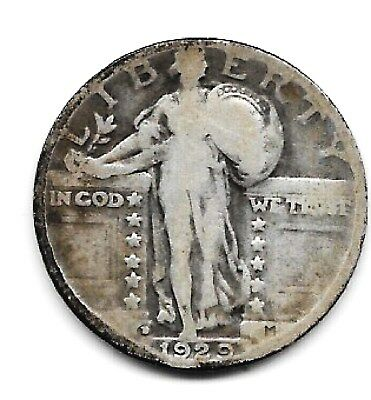 1929d 25c silver coin standing liberty