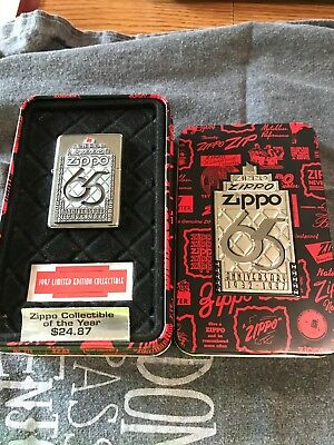 NEW ZIPPO Limited Edition 65th Anniversary 1932-1997  Lighter With Original Tin