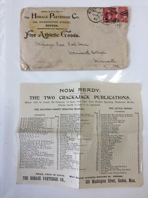 1895 Horace Partridge Literature+ Facsimile Letter From Princeton Baseball Team