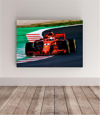 70x50 photo poster FERRARI F1 VETTEL Super Car wall art supercar 18 43 gt RACING