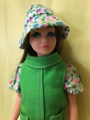 "VINTAGE 1967 MATTEL JAPAN 9"" SKIPPER Barbie Doll W/Clothes Shoes Bucket Hat TNT"