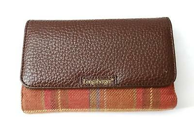 "Longaberger Toboso Plaid Wallet - Removable ID - 3.75"" x 5.75"""