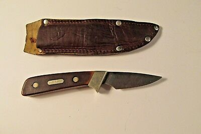 Old Timer Schrade USA 1560 T knife & sheath hunting fishing protection Bowie