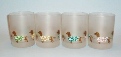 Set of 4 Dachshund Double Old Fashioned Frosted Glasses – Hawaiian Shirts