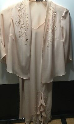 Formal Dress, Mother of Bride/Groom R&M Richards Light  Peach Size 24