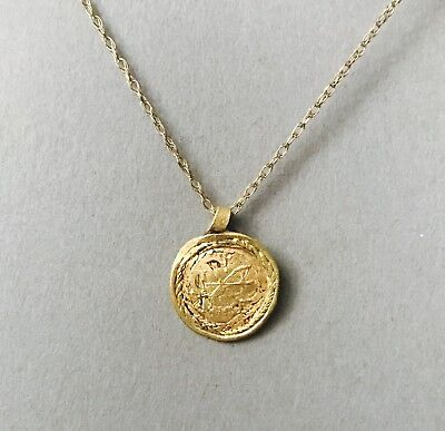 Ancient Byzantine Gold Religious Coin Pendant