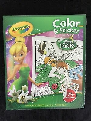 CRAYOLA COLOR AND Sticker Disney Fairies Book Coloring Book ...