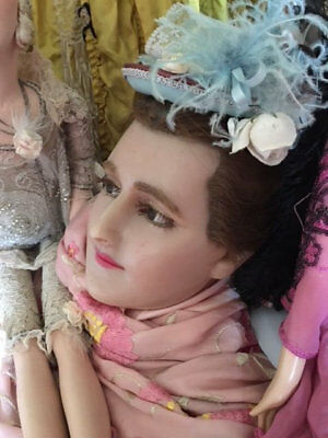 Stunning lifesize French antique wax mannequin head circa 1880s   Boudoir  Doll