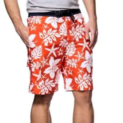 d26c0d7efd Chaps Men's Hawaiian Tropical Print Cargo Short Swim Trunk Swimwear XL  Multi $50