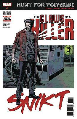 HUNT FOR WOLVERINE CLAWS OF KILLER #1 2nd Print Comics NM Presale 6/19/2018