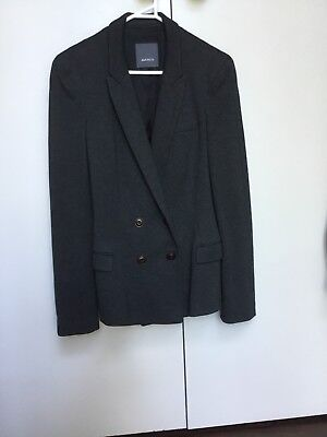 Marcs Wool Double Breasted Blazer Grey Charcoal