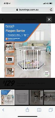 Perma Playpen Barrier For Baby, Child, Pet- 75cm High, up to 3.7m Long