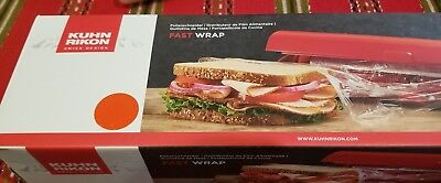 Fast Wrap Organizer, Stores And Cleanly Cuts Aluminum Foil Plastic Wrap, Red