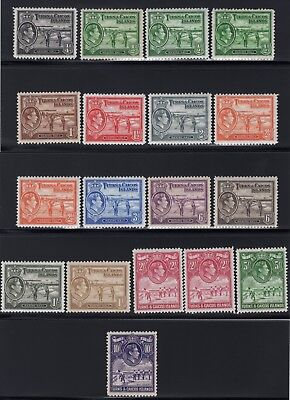 1939 Turks & Caicos. SC#78-89, SG#194-205. Mint, Hinged, Very Fine.