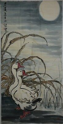 Rare Large Chinese Painting Signed Master Xu Beihong No Reserve Unframed G8867