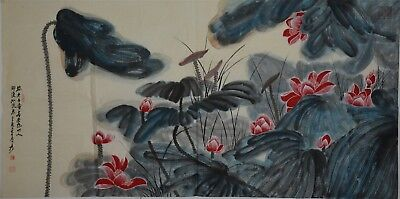 Spectacular Large Chinese Painting Signed Master Zhang Daqian No Reserve H7927