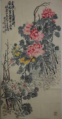Beautiful Large Chinese Painting Signed Master Wu Changshuo No Reserve T9720