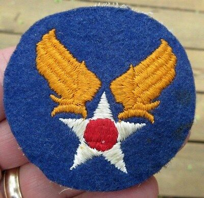 Ww2 Us Army Air Force Wings & Star Felt Theater Patch