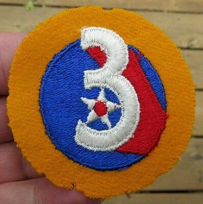 Ww2 Us Army Unknown 3 With Star Felt Theater Patch