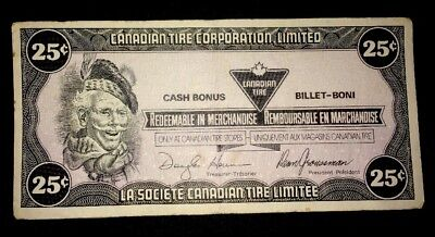 25 Cents Canada Canadian Tire Note Money Redeemable voucher