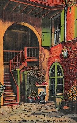 Postcard LA New Orleans Brulatour Courtyard 520 Royal Street Vintage Louisiana